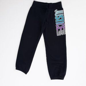 Justice for Girls 12 Black Sweat Pants Joggers